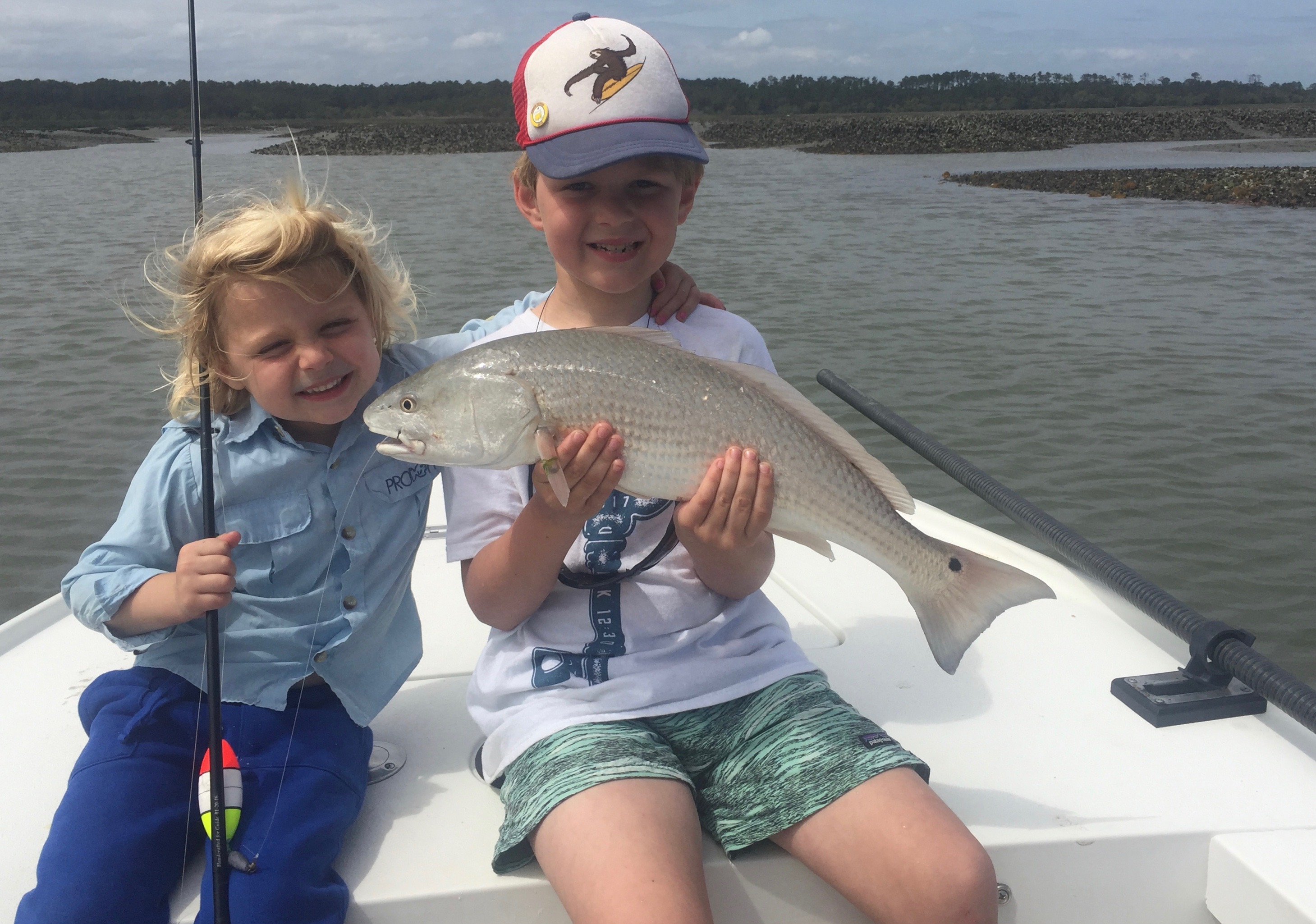 Kids Fishing First Redfish