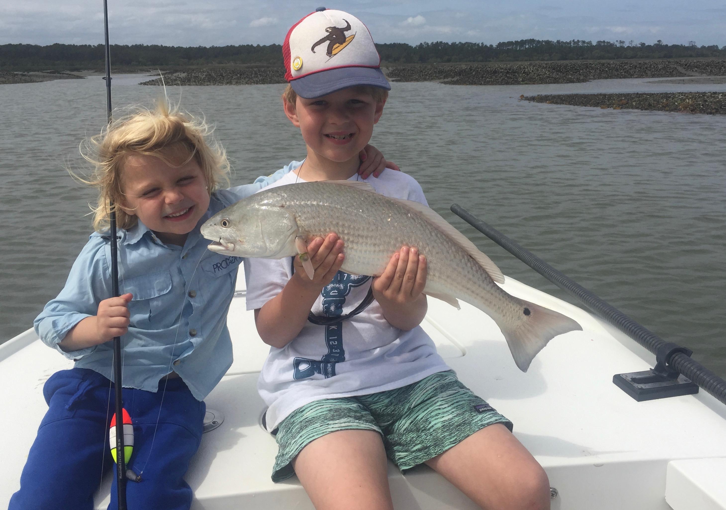 Kids Fishing First Redfish