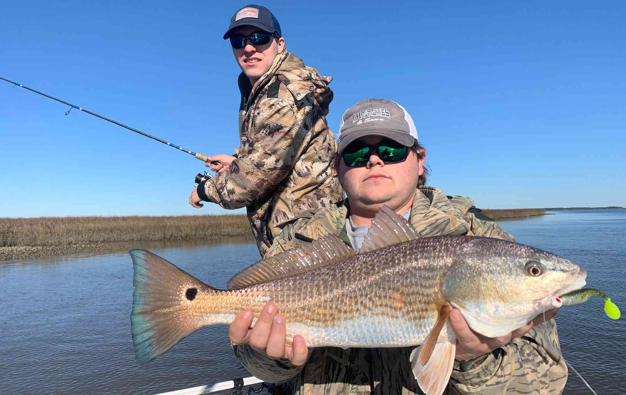 a picture of 2020 Winter Fishing Report with Carolina Guide Service