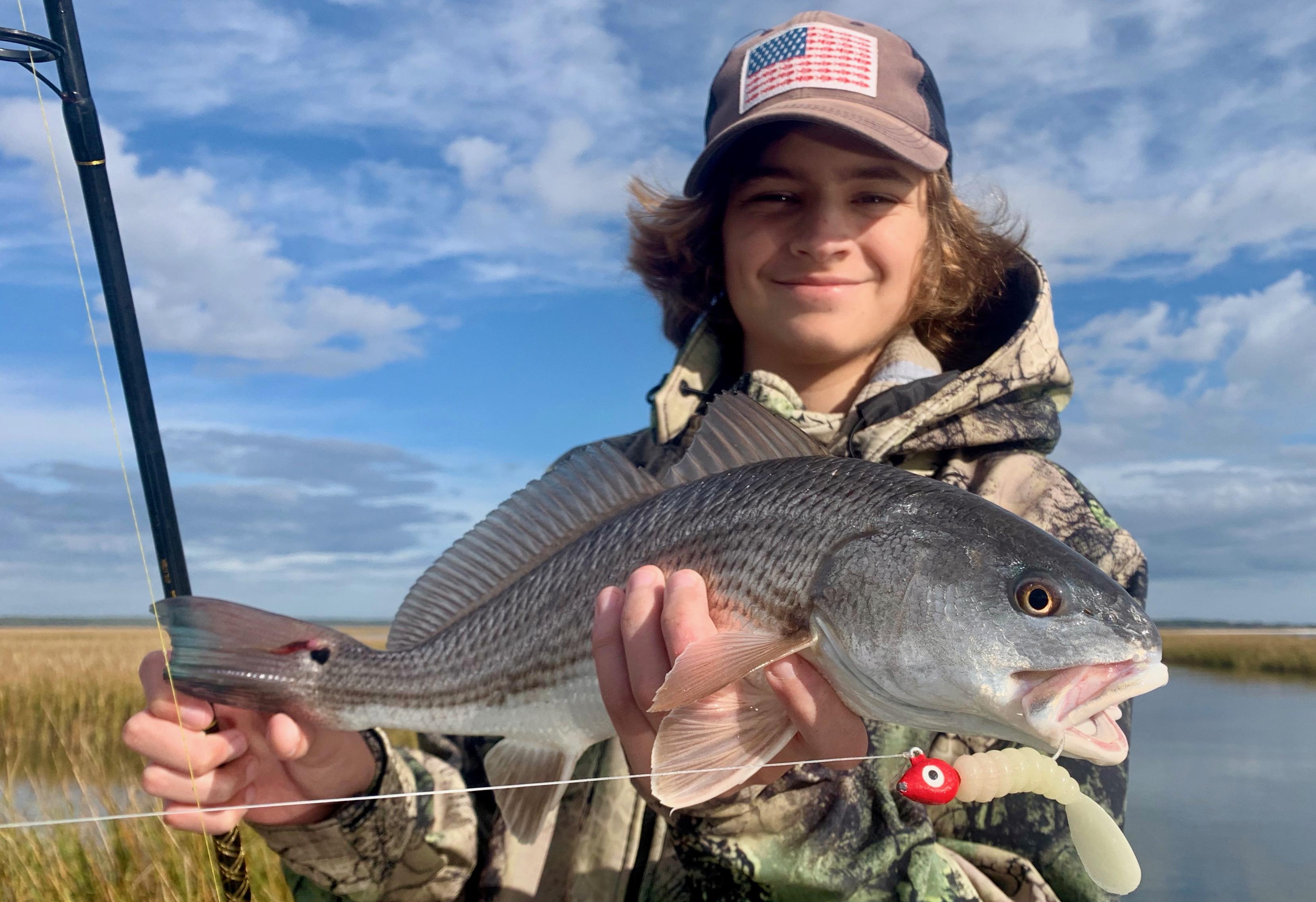 DOA Lures redfish south Carolina Captain Jordan Pate